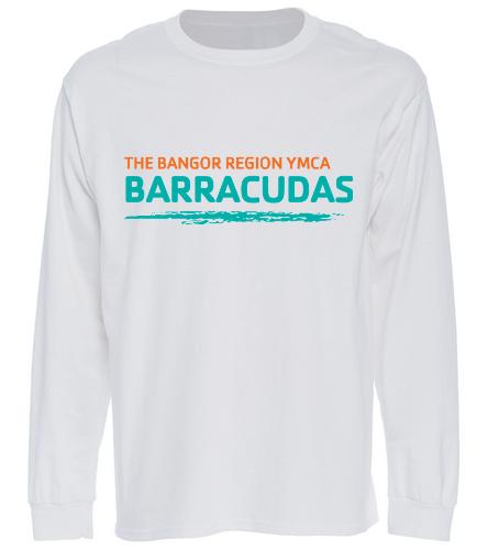 Long-Tee-Barracudas-white - SwimOutlet Cotton Unisex Long Sleeve T-Shirt