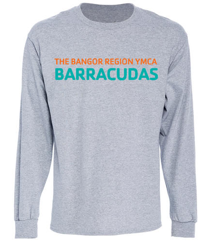 Long-Tee-Cotton-Barracudas-Gray - SwimOutlet Cotton Unisex Long Sleeve T-Shirt