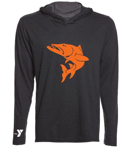 Hoodie-Orange-fish - SwimOutlet Men's Perfect Long Sleeve Hoodie