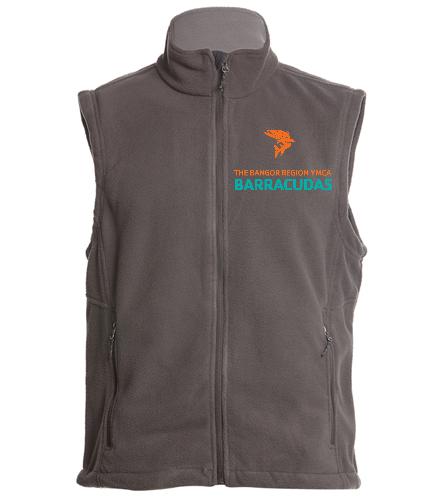 vest-barracudas-orange-fish - SwimOutlet Adult Men's Fleece Vest