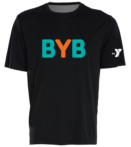 Tee-black-BYB-blue-fish - SwimOutlet PosiCharge® Competitor™ Tee