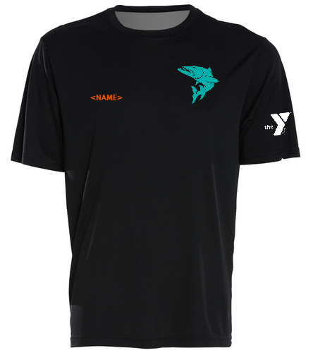 Black-tee-blue-fish-name - SwimOutlet PosiCharge® Competitor™ Tee