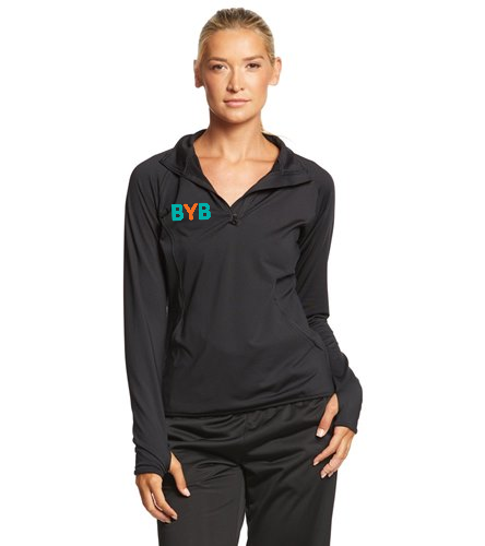 Zip-pullover-BYB - SwimOutlet Sport-Tek®Women's Sport-Wick®Stretch 1/2-Zip Pullover