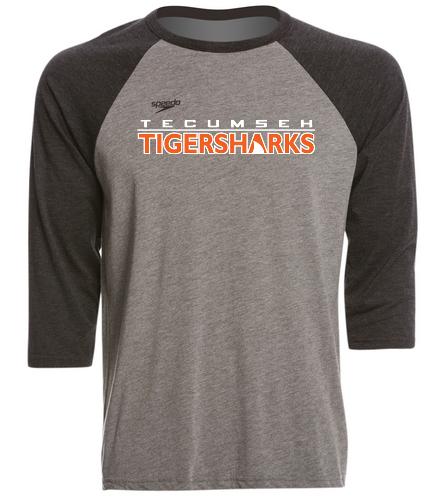 TIGERSHARKS - Speedo Unisex Baseball Tee Shirt