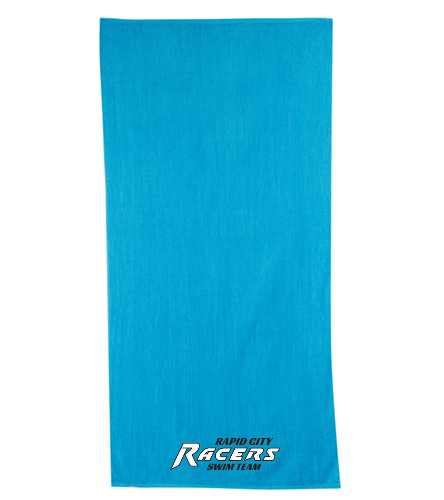 RCR Turquoise Towel - Diplomat Terry Velour Beach Towel 30 x 60