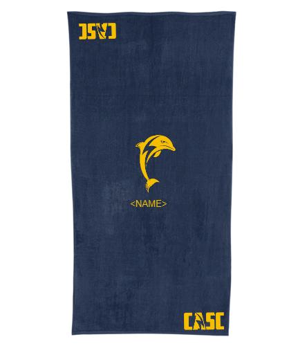 towel 3 - Royal Comfort Terry Velour Beach Towel 32 X 64