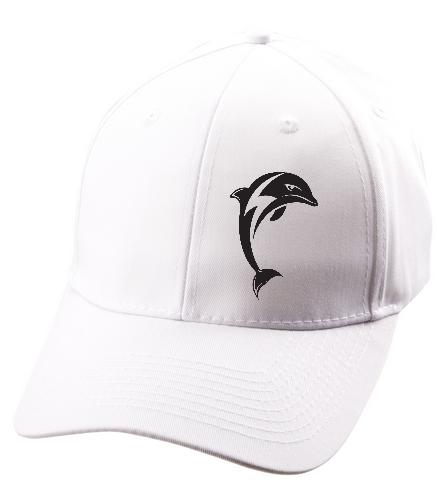 whiteteamhat - SwimOutlet Unisex Performance Twill Cap