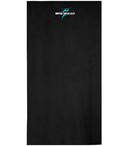 Jupiter Diving Club blk beach towel with logo - Royal Comfort Terry Velour Beach Towel 32 X 64