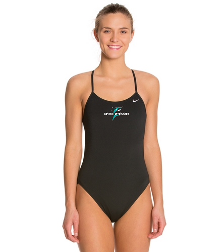 Jupiter Diving Club blk Nike Suit with whi lettering on 4x4 chest logo - Nike Swim Polyester Cut-Out Tank One Piece Swimsuit