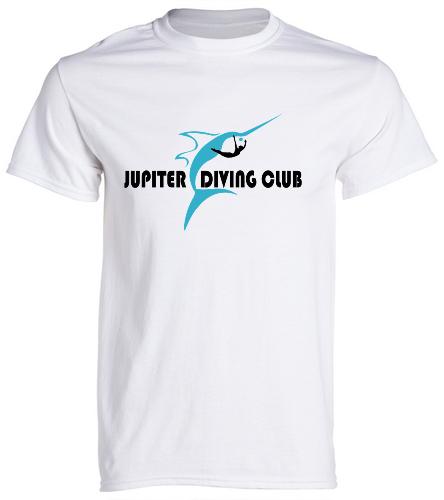 Adult Heavy Cotton T-shirt (white) - SwimOutlet Unisex Cotton Crew Neck T-Shirt