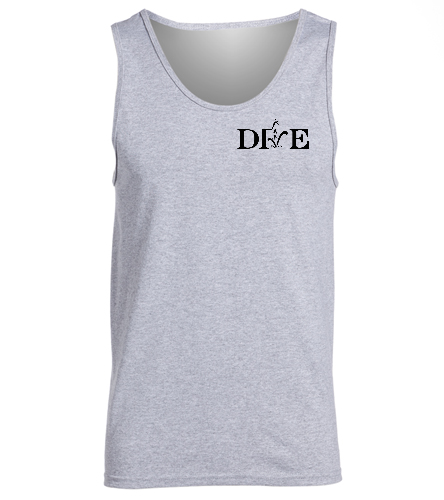 Jupiter Diving Club novelty grey tank  - SwimOutlet Men's Cotton Tank Top