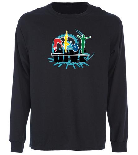 Jupiter Diving Club Blk long sleeve novelty - SwimOutlet Cotton Unisex Long Sleeve T-Shirt