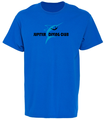 Jupiter Diving Club Royal T-shirt design - SwimOutlet Unisex Cotton T-Shirt - Brights