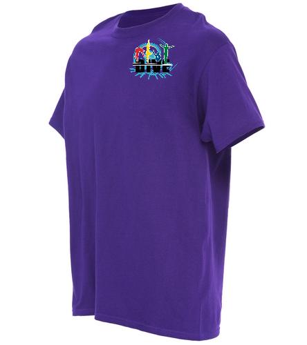 Jupiter Diving Club Novelty purple T-shirt - SwimOutlet Unisex Cotton T-Shirt - Brights