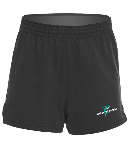 Jupiter Diving Club Team Girls fitted Jersey shorts - SwimOutlet Custom Girls' Fitted Jersey Short
