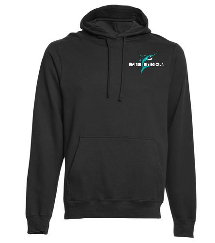 Jupiter Diving Club Black pullover hoodie - SwimOutlet Adult Fan Favorite Fleece Pullover Hooded Sweatshirt