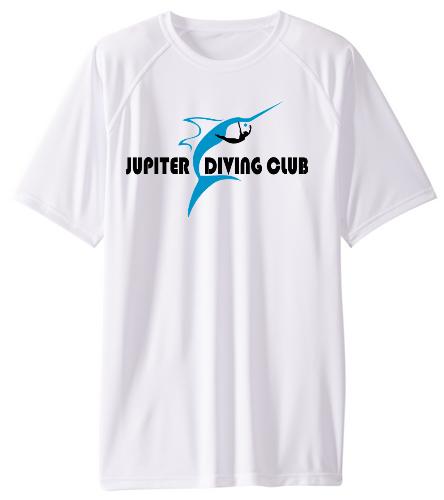 Jupiter Diving Club Mens SPF T-shirt  - Sporti Men's Solid S/S UPF 50+ Sun Shirt