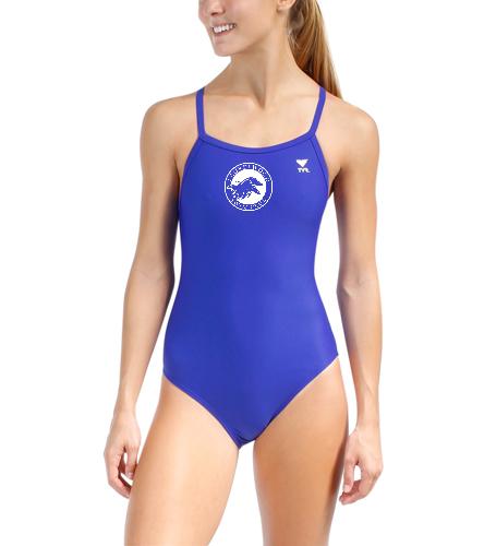 Laurelwood Swim Club  - TYR Women's TYReco Solid Diamondfit One Piece Swimsuit