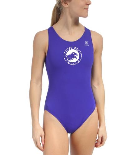Laurelwood Swim Club  - TYR Durafast Solid Maxfit One Piece Swimsuit