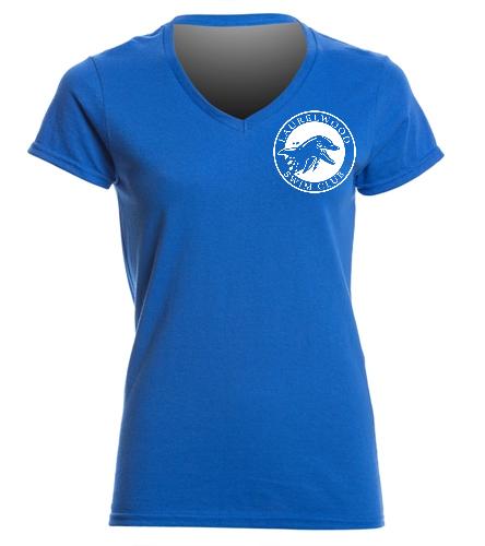 Laurelwood Swim Club - SwimOutlet Women's Cotton V-Neck T-Shirt