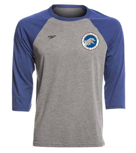 Laurelwood Swim Club - Speedo Unisex Baseball Tee Shirt