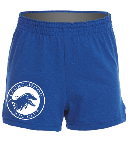 Laurelwood Swim Club - SwimOutlet Custom Girls' Fitted Jersey Short