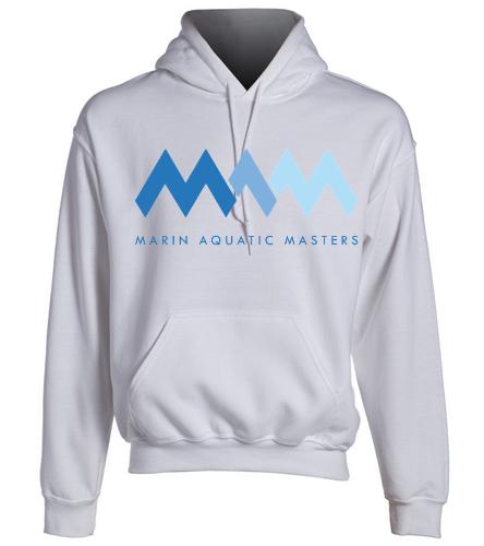 MAQ White Sweatshirt - SwimOutlet Heavy Blend Unisex Adult Hooded Sweatshirt