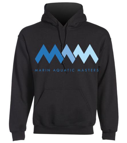 MAQ Black Sweatshirt - SwimOutlet Heavy Blend Unisex Adult Hooded Sweatshirt