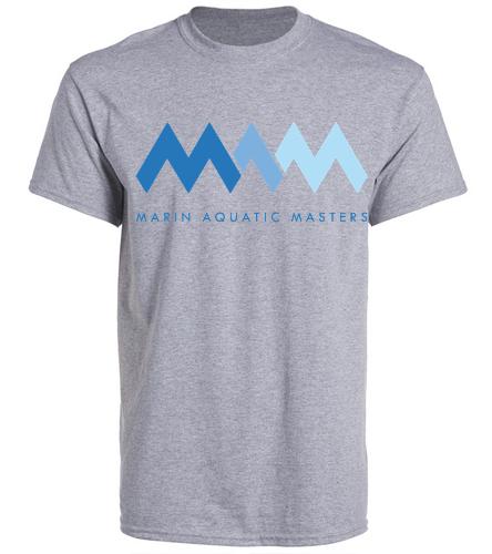 MAQ Grey Tee - SwimOutlet Unisex Cotton Crew Neck T-Shirt