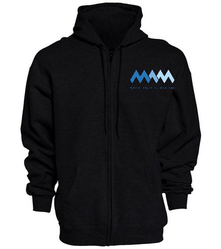 MAQ Black zip hoodie - SwimOutlet Unisex Adult Full Zip Hoodie