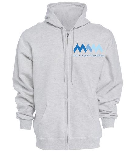 MAQ Logo Grey zip hoodie - SwimOutlet Unisex Adult Full Zip Hoodie