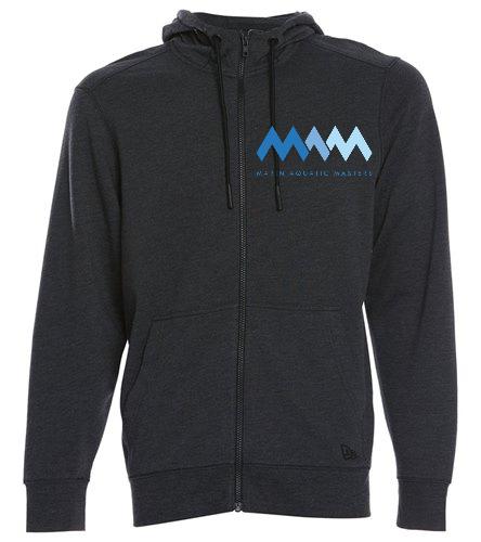 MAQ Zip Embroidered Hoodie - SwimOutlet New Era® Tri-Blend Fleece Full-Zip Hoodie