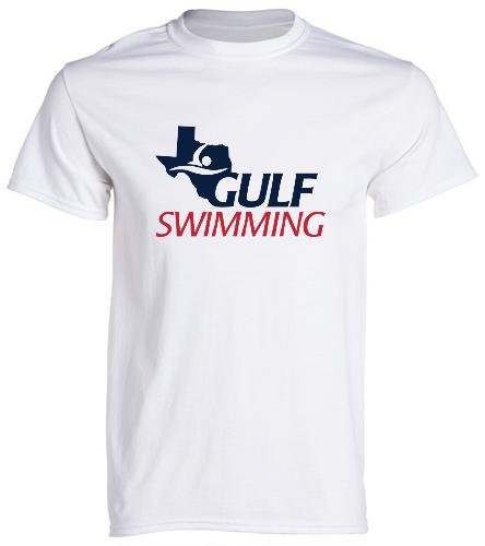 Gulf Swimming Tee White - SwimOutlet Unisex Cotton Crew Neck T-Shirt