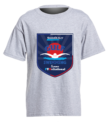 Youth Grey Front - SwimOutlet Youth Cotton Crew Neck T-Shirt