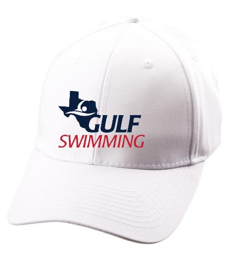 Gulf White Hat - SwimOutlet Unisex Performance Twill Cap
