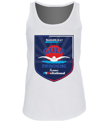 Women's Meet Tee - SwimOutlet Women's Cotton Racerback Tank Top