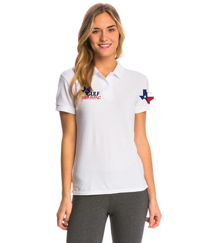 Official's Cotton Polo Women's - SwimOutlet Women's Pique Polo