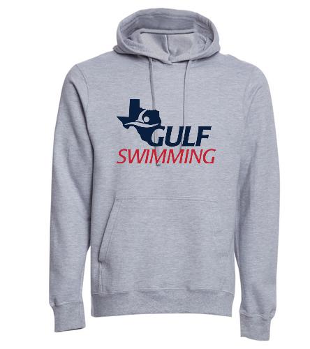 Gulf Swimming Adult Hoodie - SwimOutlet Adult Fan Favorite Fleece Pullover Hooded Sweatshirt