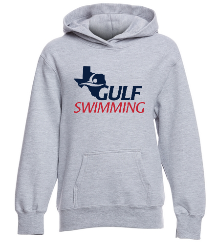 Gulf Swimming Youth Sweatshirt - SwimOutlet Youth Fan Favorite Fleece Pullover Hooded Sweatshirt