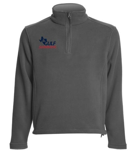 Fleece Pullover - SwimOutlet Adult Unisex Fleece 1/4-Zip Pullover