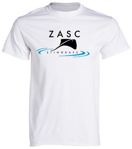 ZASC Adult White T-Shirt - SwimOutlet Unisex Cotton Crew Neck T-Shirt