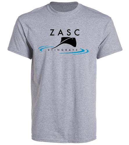 ZASC Adult Grey T-Shirt - SwimOutlet Unisex Cotton Crew Neck T-Shirt
