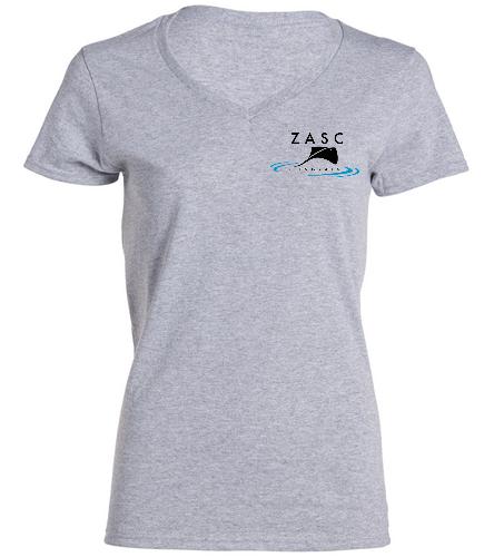 ZASC Ladies V-Neck - SwimOutlet Women's Cotton V-Neck T-Shirt