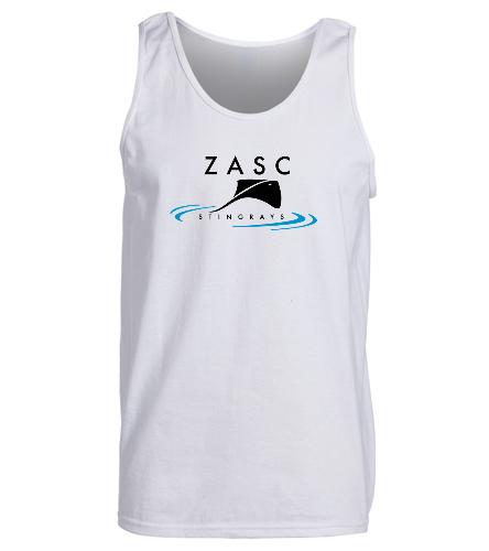 ZASC Adult White Tank - SwimOutlet Men's Cotton Tank Top