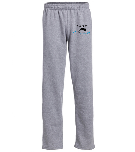 ZASC Adult Sweatpant - SwimOutlet Heavy Blend Unisex Adult Open Bottom Sweatpants