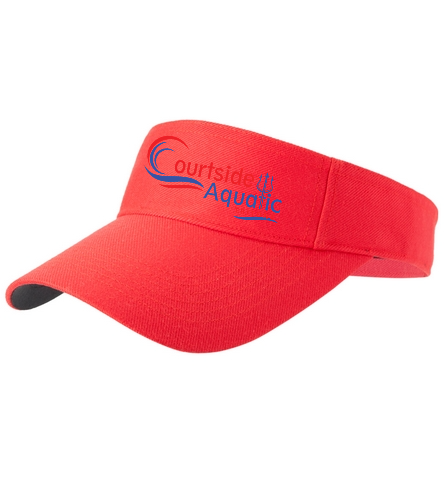 Courtside Aquatic  - SwimOutlet Custom Cotton Twill Visor