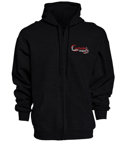 Courtside Full Zip Hoodie  - SwimOutlet Unisex Adult Full Zip Hoodie