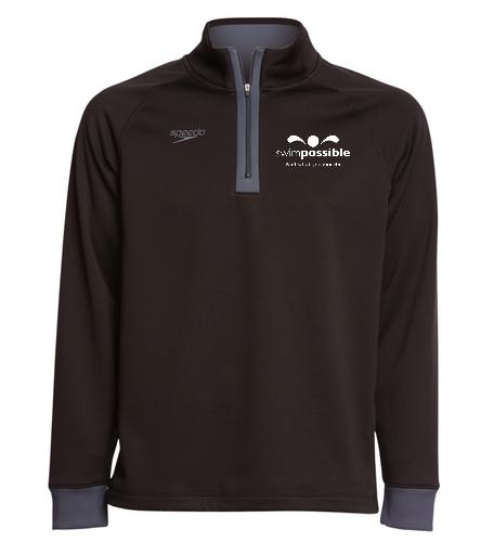 SP unisex quarter zip  - Speedo Unisex 3/4 Zip Sweatshirt