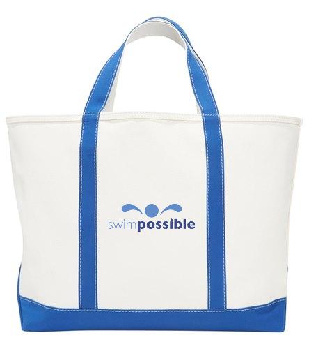 SP Beach tote  - Sporti Zip Top Canvas Beach Tote Bag