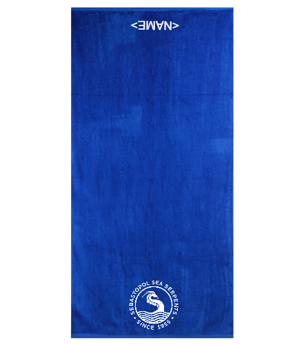 SSS Team Towel - Royal Comfort Terry Velour Beach Towel 32 X 64